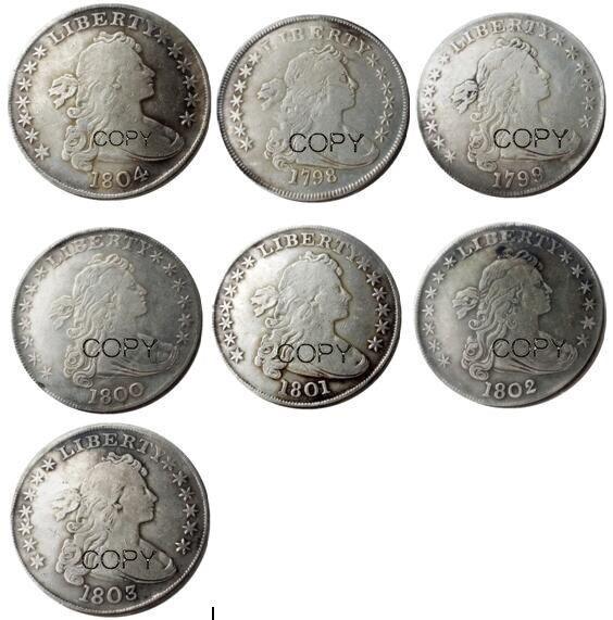 US 1798-1804 pecho drapeado dólar águila heráldica plateado copia monedas