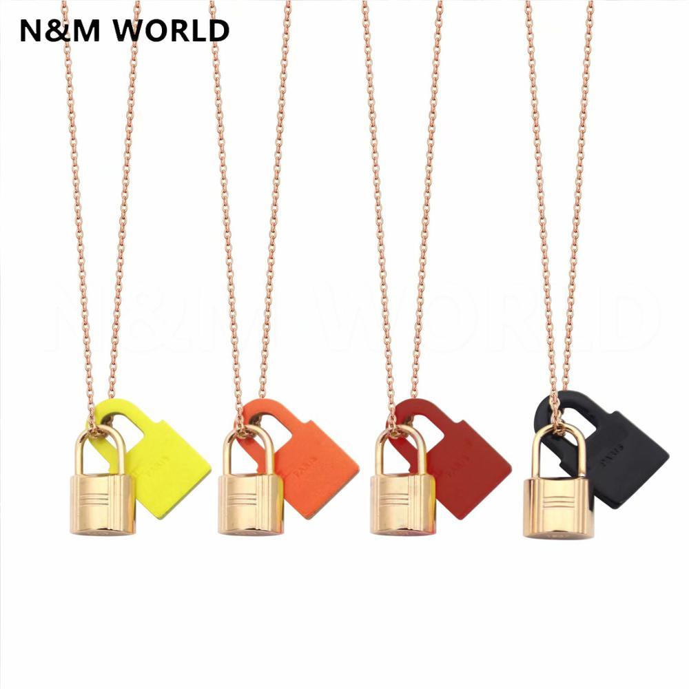 Collar de cadena con etiqueta de marca de moda estilo Simple 2019 nuevos accesorios de joyería regalo de San Valentín collar joyería