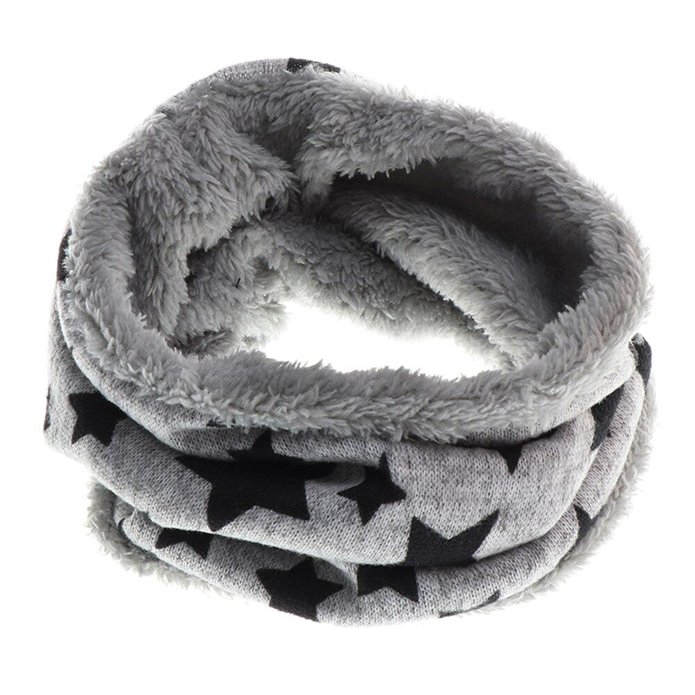 Nova chegada crianças outono inverno quente cachecol estrelas impresso bebê cachecol meninos e meninas algodão crianças dot loop cachecóis