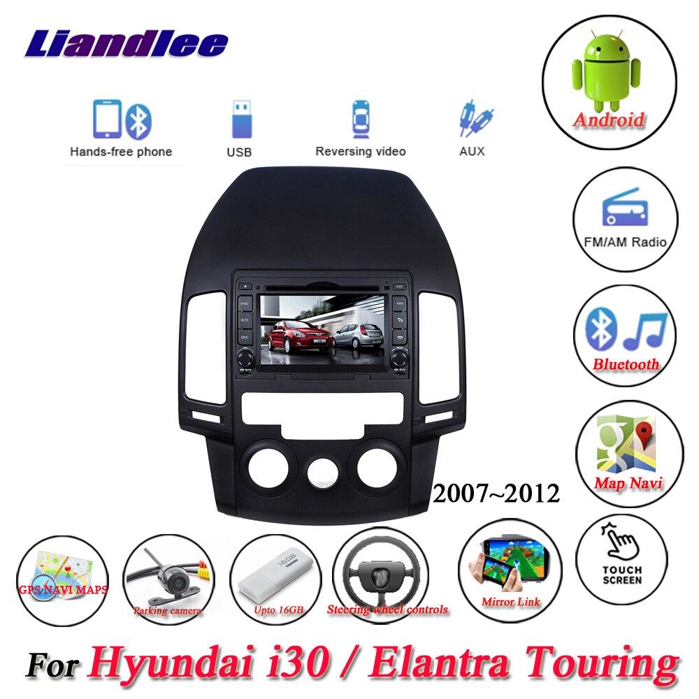 For Hyundai i30/Elantra Touring Manual AC 2007 2008 2009 2010 2011 2012 Radio DVD Player GPS Navigation Android System HD Screen