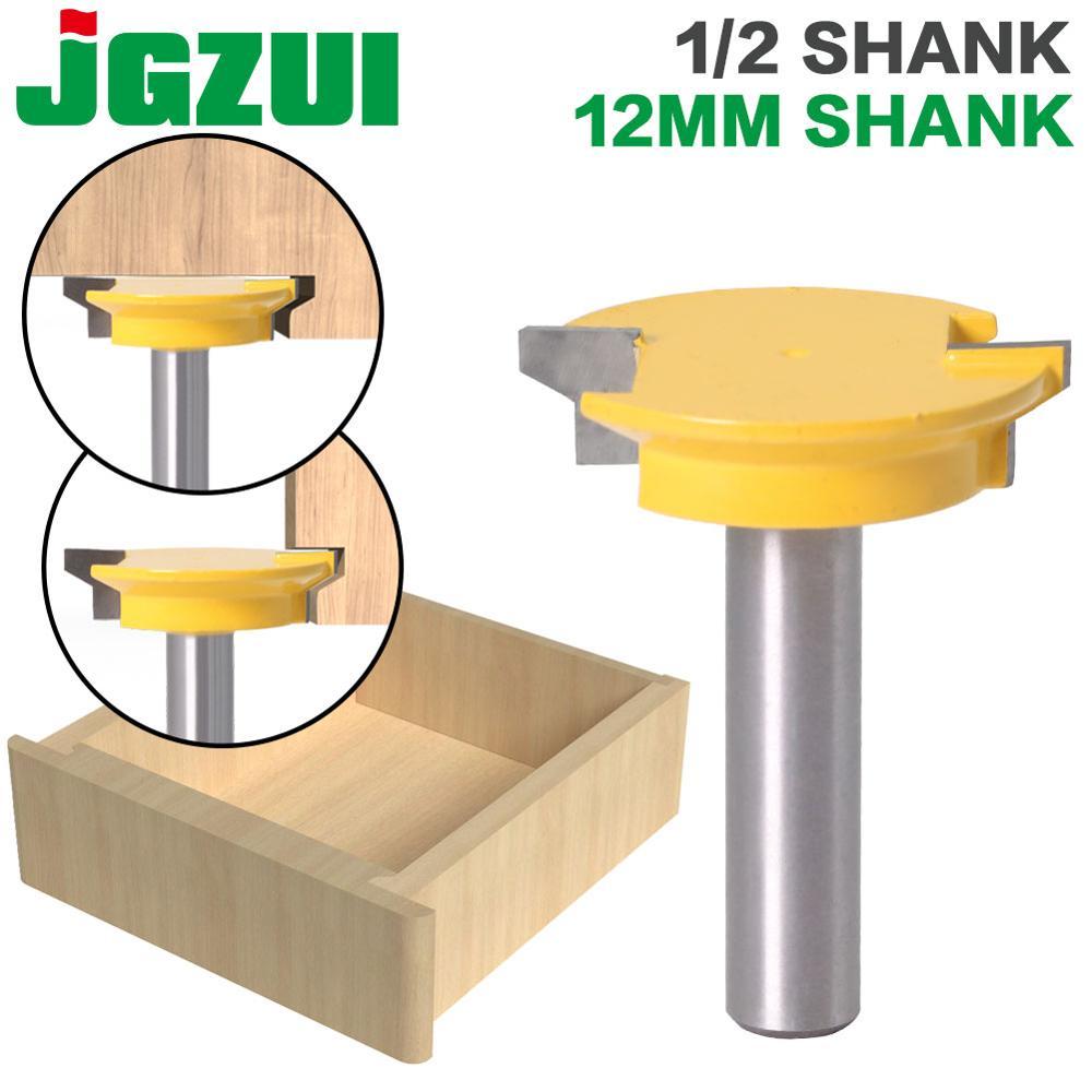 """Jgzui gaveta frente junção roteador bit-reversível-1/2 """"haste 12mm haste carpintaria cinzel cortador"""