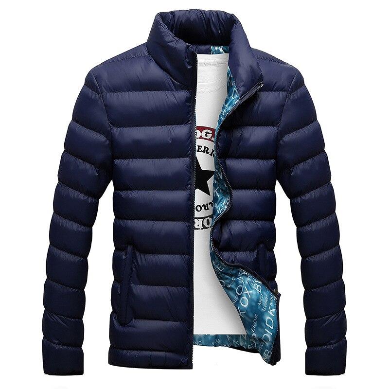 Зимняя куртка MenFashion с воротником-стойкой, Мужская парка, куртка, мужские однотонные толстые куртки и пальто, мужские зимние парки