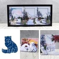 new 2021 cute arctic fox metal cutting dies scrapbook diary decoration stencil embossing template diy greeting card make albums