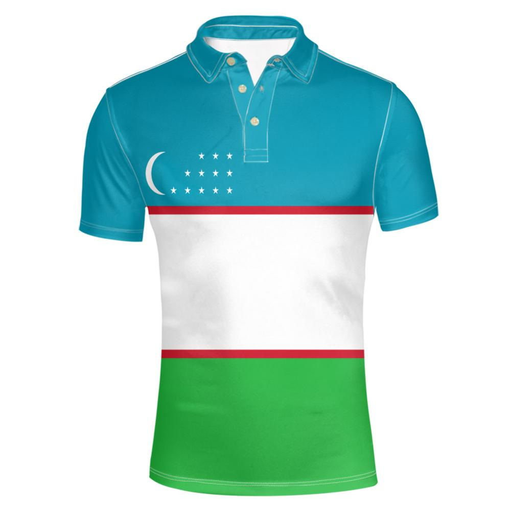 Camiseta de Polo con número de uzb hecho a medida, diy gratuito de la Juventud de Zambia, bandera de la Nación, uz, ozbekiston, ropa de fotografía con impresión de país uzb