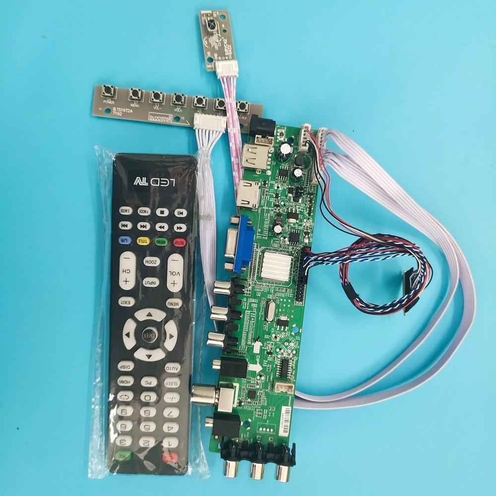Для LP156WH4 LTN156AT05-U09 панель экран 40pin плата контроллера драйвер 1366X768 USB AV VGA HDMI цифровой ЖК-телевизор DVB-T/CDVB-T2