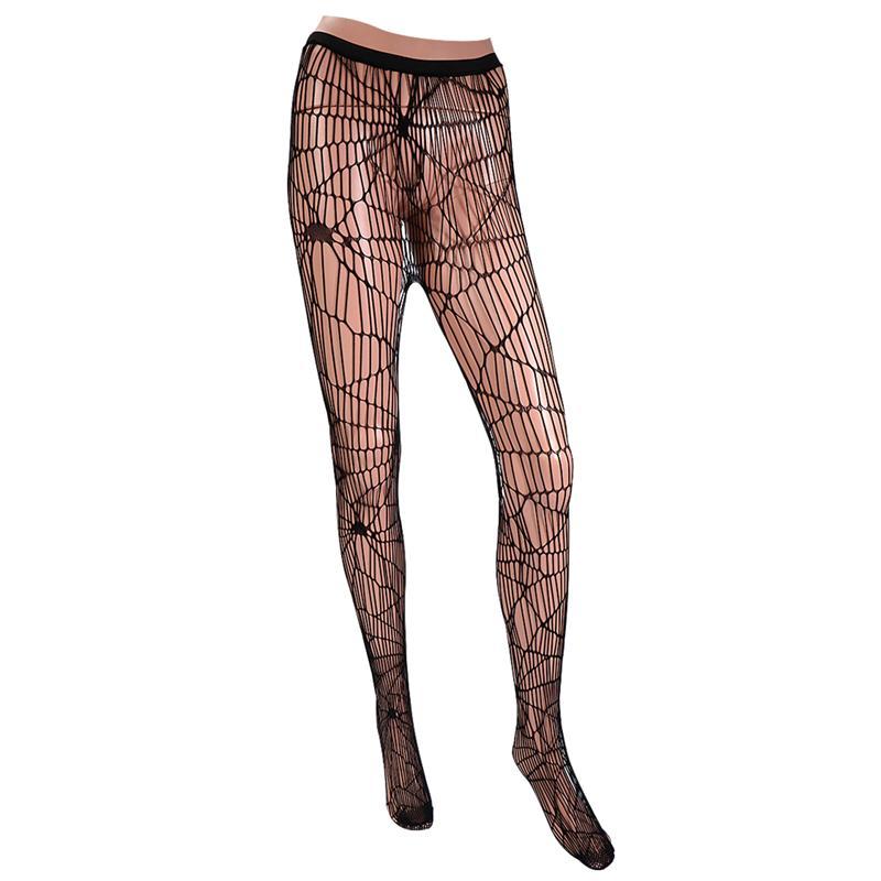 Halloween malha meias leve confortável malha meia-calça festa traje aranha web collants para halloween cosplay performance