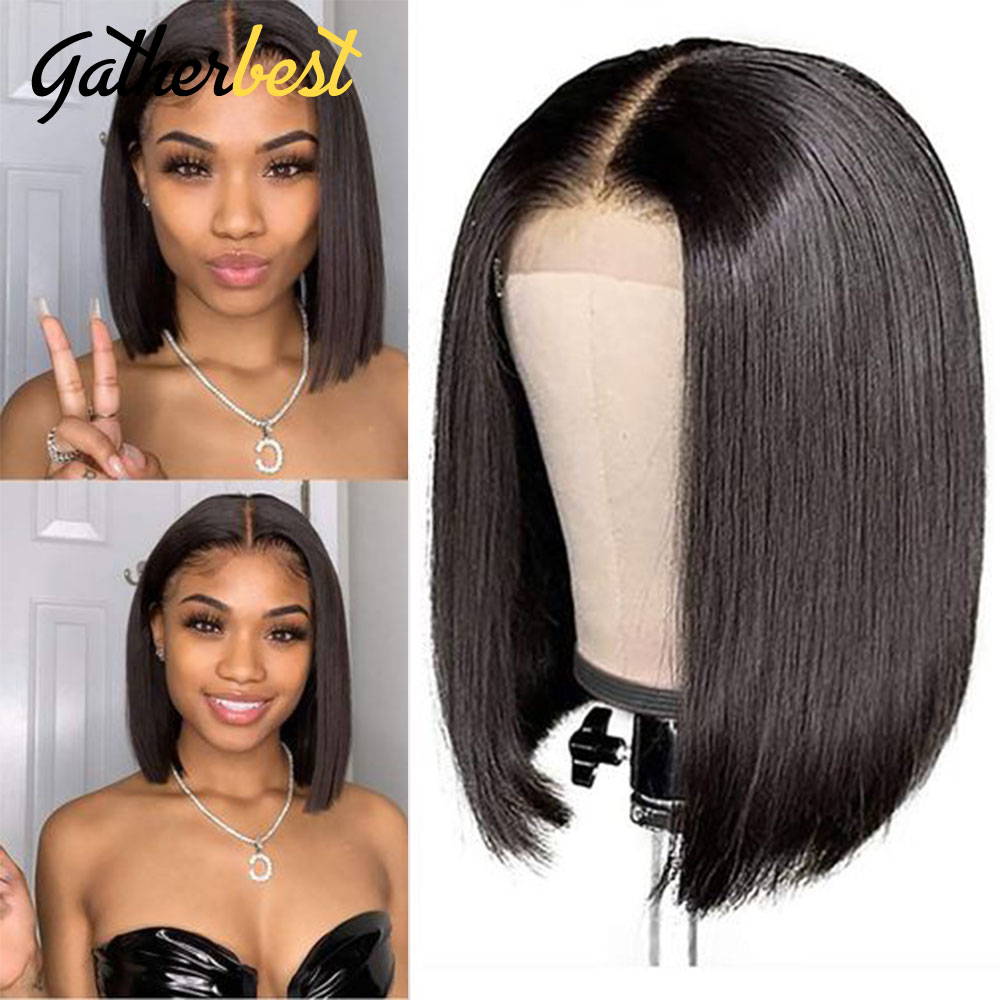 Human Hair Wigs Short Bob Wigs Straight Lace Front Wig glueless full lace wigs 150% Brazilian Hair Perruque Cheveux Humain