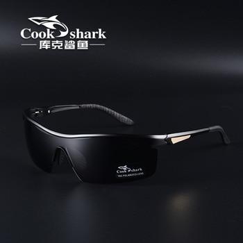 Cook shark 2021 new polarizing sunglasses men's driving glasses special trend color changing Sunglasses men's fishing glasses