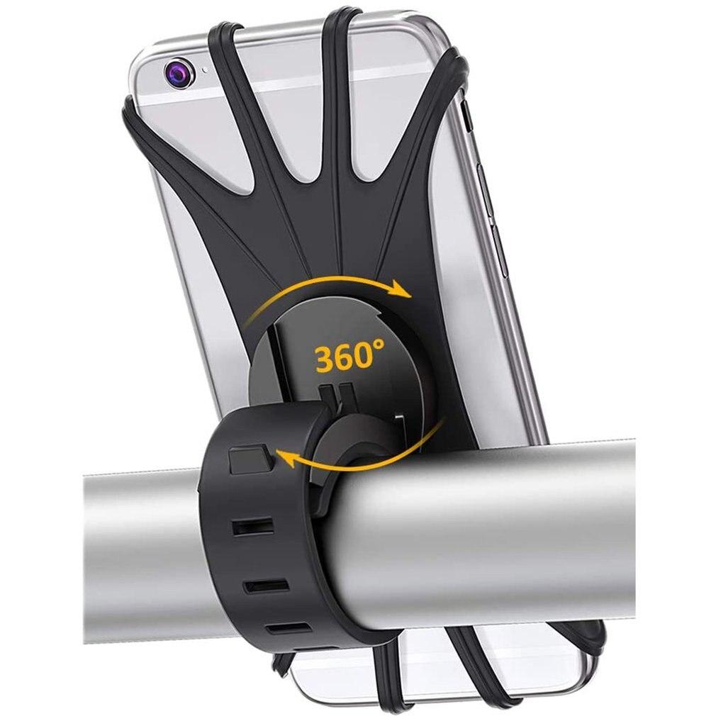 Держатель для телефона на велосипеде, вращающийся силиконовый держатель для телефона на руль мотоцикла, держатель для телефона 4,0-6,0 дюйма