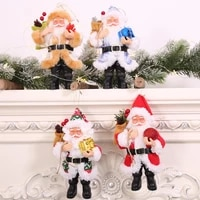 christmas decorations resin santa claus dolls standing christmas figurine holiday decoration ornaments layout window decoration