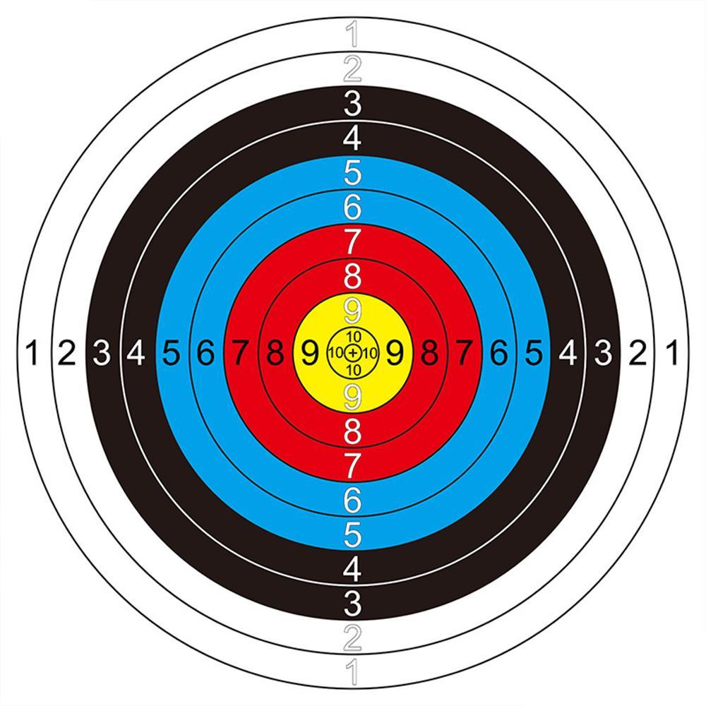 Accesorios ronda tiro blanco caras dardos de papel 10 anillo profesional 41*41 ejercicio conveniente la práctica de arcos