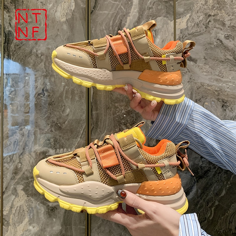 2021 Designer Sneakers Women Platform Shoes Fashion Zapatillas Mujer Basket Femme Ladies Trainers Ca