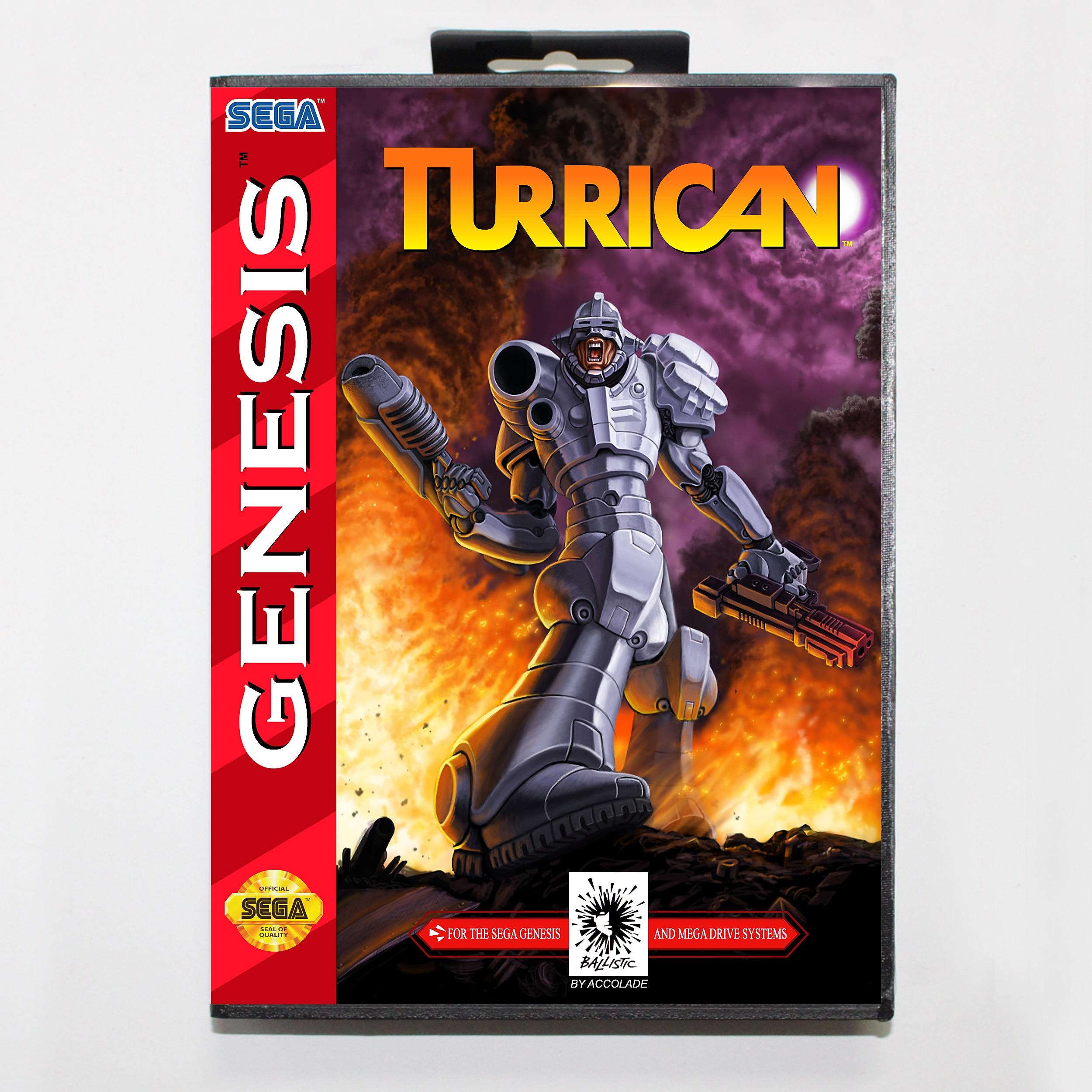 Turrican-tarjeta de juego MD de 16 bits para Sega Mega Drive/ Genesis,...