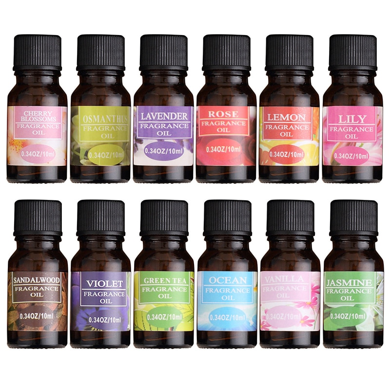 10ml Pure Natural Air Freshening Dropper Essential Oils For Aromatherapy Diffusers Help Relieve Stress Skin Care Improve Sleep