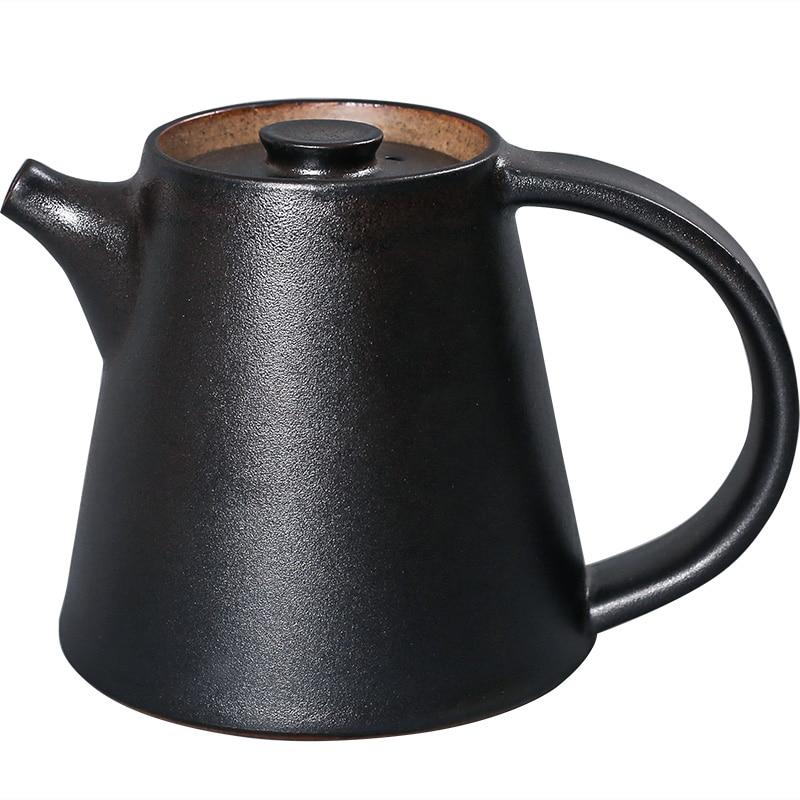 Japanese Ceramic Black Teapot Accessories Small Da Hong Pao Kettle Teapot With Infuser Teteras De Te Tea Pot Porcelain EA60CH
