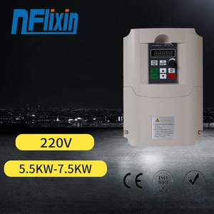 Frequency Inverter, 220V 5.5KW Single Phase Input and 3 Phase Output Inverter Variable Frequency Driver