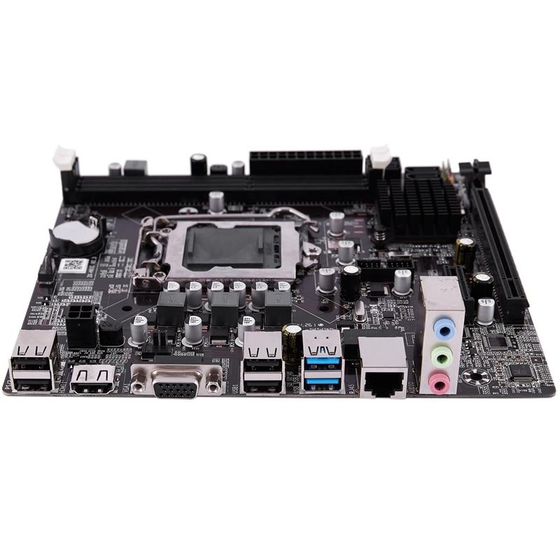 B75 LGA 1155 Desktop Computer Mainboard with SATA II USB3.0/2.0 PCI-E X16 16G DDR3 1600 Motherboard