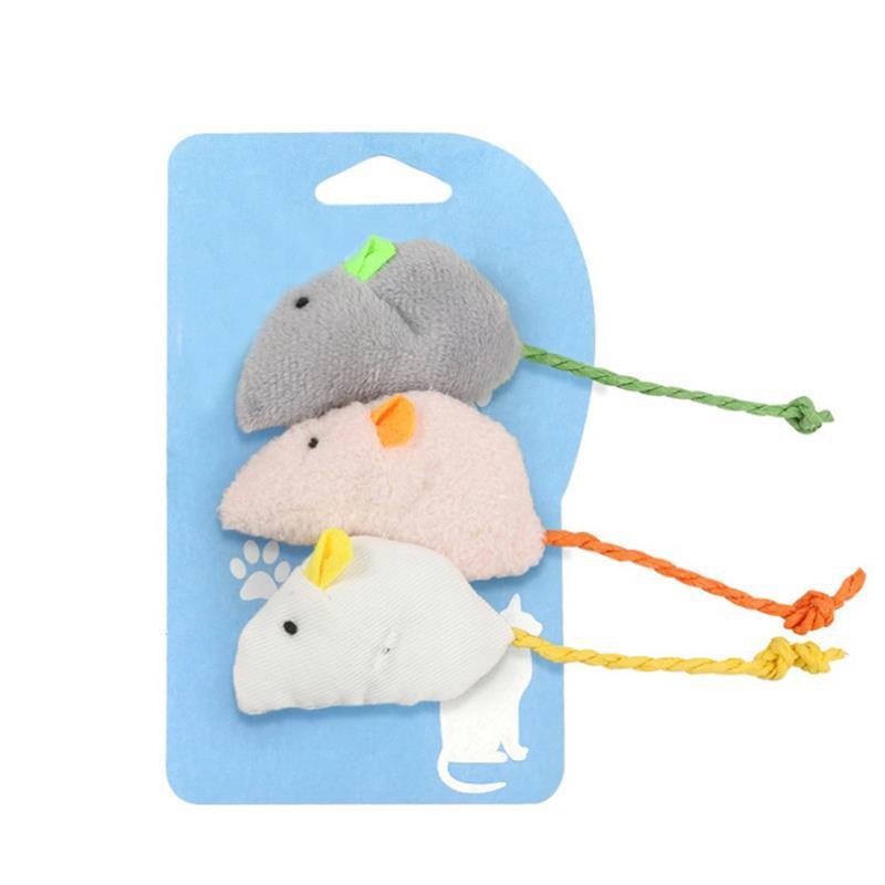 3 шт./компл. Забавные игрушки в форме кошачьей мыши, креативная плюшевая игрушка для кошек, игрушка для кошачьей мяты, игрушки для прорезывания зубов, товары для домашних животных, сувениры для кошек