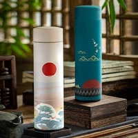 500ml thermos cup coffee tea mug chinese classical style stainless steel vacuum flask water bottle with filter thermocup