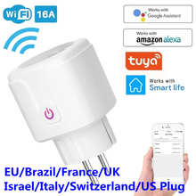 WiFi Smart Plug 16A EU Brazil Socket Wireless Remote Voice Control Power Energy Monitor Outlet Timer Works for Alexa Google Home