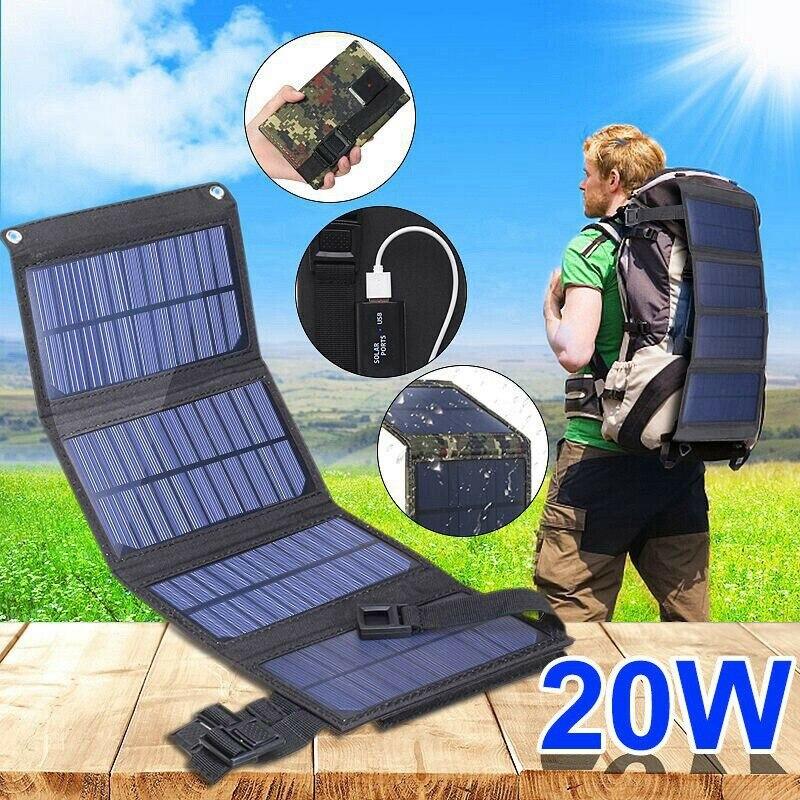 USB لوحة شمسية قابلة للطي المحمولة مرنة صغيرة مقاوم للماء 5 فولت قابلة للطي الألواح الشمسية خلايا للهاتف المحمول شاحن بطارية