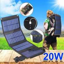 USB складная солнечная панель, портативная Гибкая Водонепроницаемая 5 В складная солнечная панель, s ячейки для мобильного зарядного устройс...