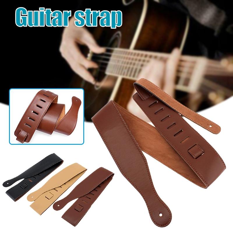 Adjustable Guitar Strap Durable Portable Long Lasting Portable Comfortable for Electric Guitar Bass Folk Guitar