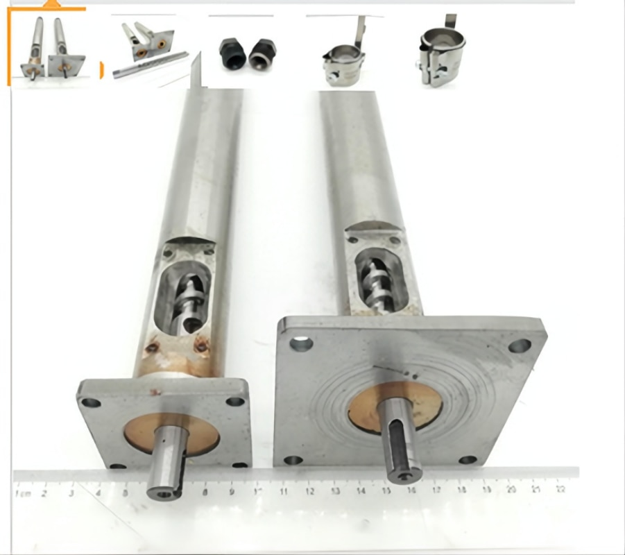 Sold as a set 12mm Dia Extruder Screw, Barrel with 1.75/2.5mm Nozzle and 3PCS 35*40 220V Band Heater