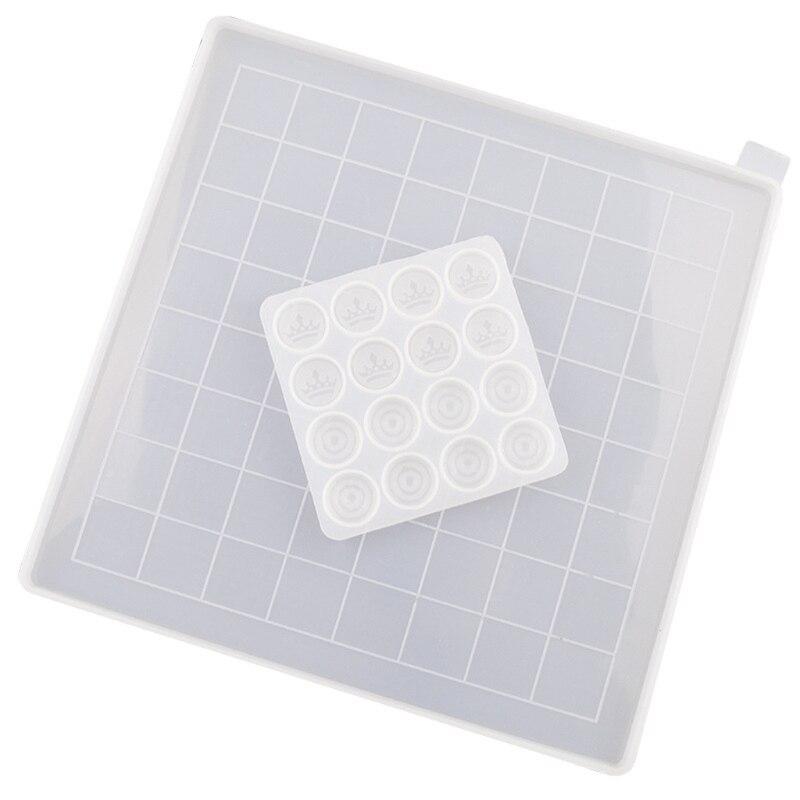 Комплект из 2 предметов DIY проверки форма для литья под давлением набор шахматы-форма для литья под давлением шахматная доска пресс-форм 83XF