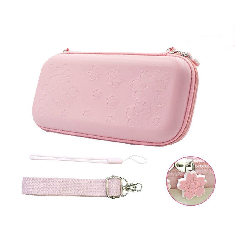 الوردي ساكورا حقيبة حمل واقية حزمة حقيبة المياه واقية لطيف الإبهام قبضة واقي للشاشة شريط للرسغ والكتف