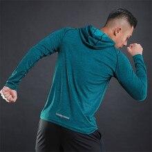 Running Jacket For Men Sports Coat Fitness Long Sleeve Hooded Tight Sportswear Skinny Sweatshirts Women Gym Training Jackets