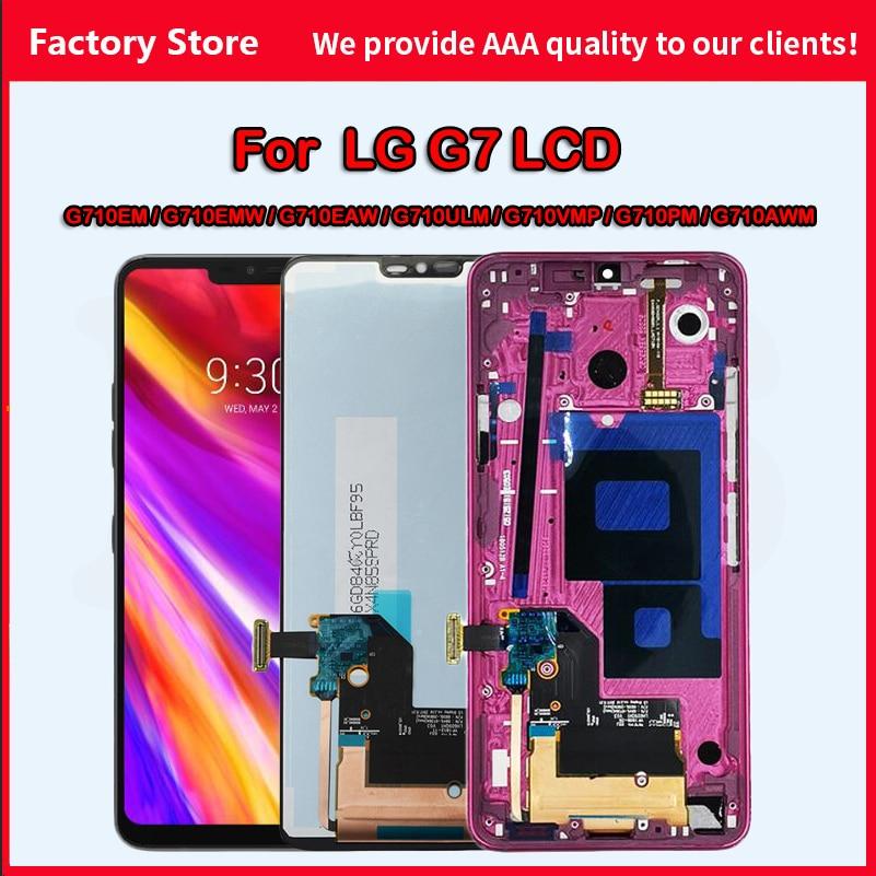 AAA الجودة ل LG G7 LCD G710N G710AWM G710EAW G710EM G710PM G710VMP G710ULM ThinQ عرض مجموعة المحولات الرقمية لشاشة تعمل بلمس