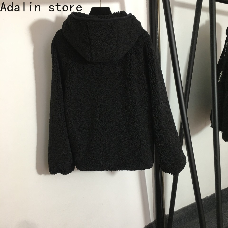 2021 high quality autumn and winter new fashion women's letter printed lamb wool long sleeve Hoodie cashmere sweater women enlarge