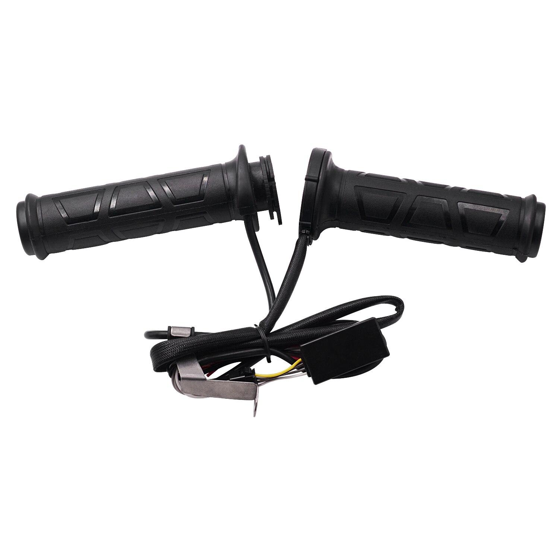 Noir 22mm mise à niveau réglable moto guidon électrique poignée chauffante chauffage poignées ensemble guidon plus chaud poignée couverture