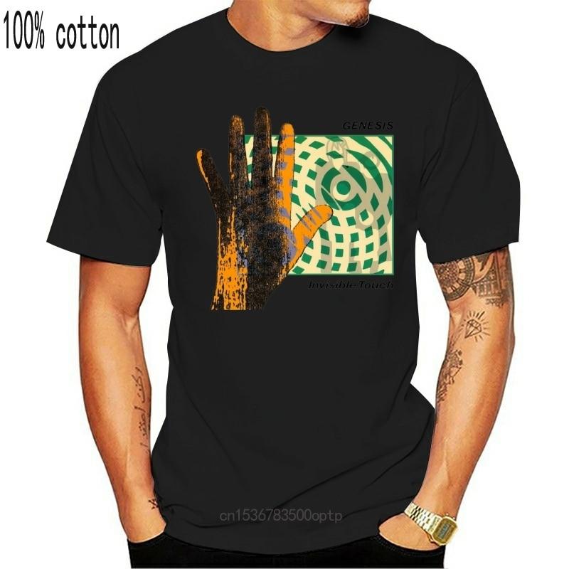 New 2021 Vtg Rare T Shirt Genesis 86 Phil Collins Top Blackharajuku Streetwear Shirt Menreprint Usasz