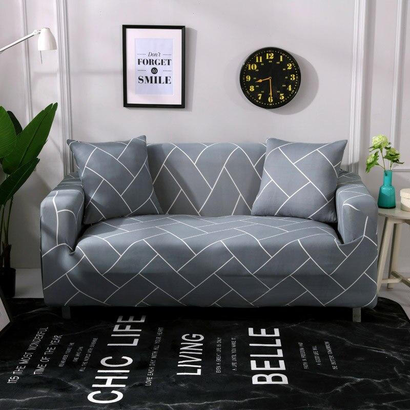Fundas de sofá impresas a rayas para sala de estar moderno sofá de tres asientos fundas elásticas gran flexibilidad Copridivano