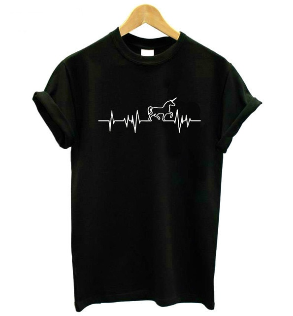 Electrocardiograma (ECG) Europa y América chao liu jie tou Camiseta de manga corta Cool Couple Clothes AliExpress una generación de