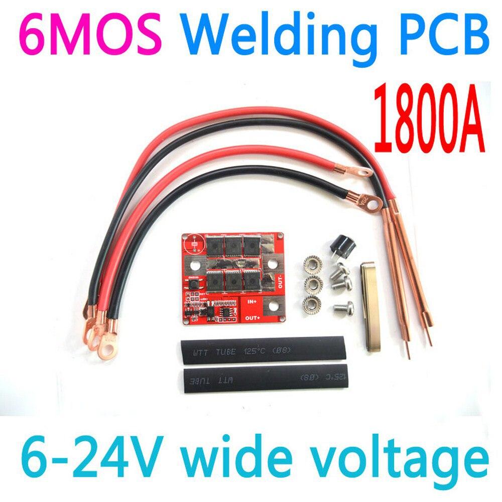 DIY 6V12V 24V 6MOS Портативный аккумуляторная машина для точечной сварки PCB програмная панель сварочное оборудование пятна ручка сварщика