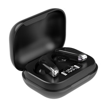 J70 블루투스 이어폰 TWS 이어 버드 방수 자동 페어링 진정한 무선 스테레오 이어폰 터치 컨트롤 LED 디스플레이