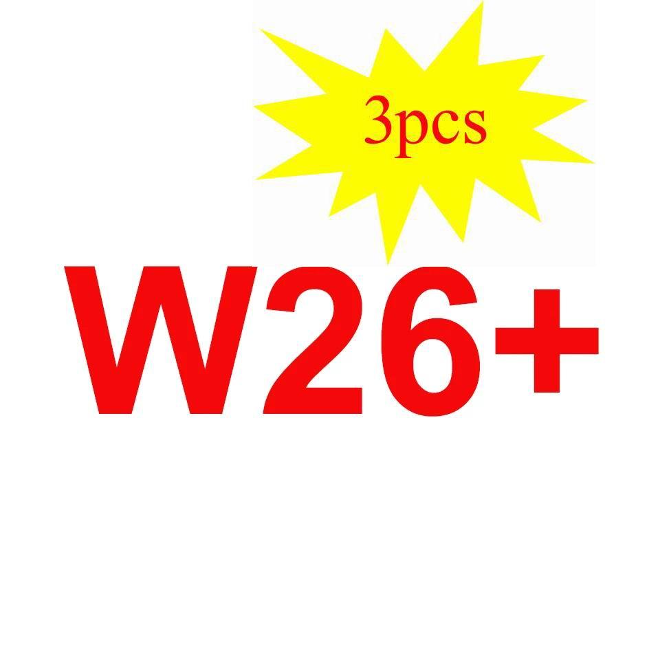 3 قطعة جديد W26 + W26 زائد ساعة ذكية 1.75 شاشة كاملة تعمل باللمس ساعة ذكية الفرقة W26 برو الرياضة ساعة سوار ذكي Pk T500