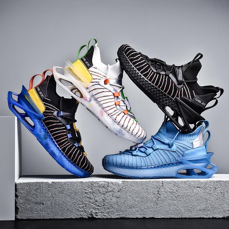حذاء رياضي شبكي مسامي للرجال ، حذاء رياضي صيفي عالي الجودة ، مقاس كبير 46 Zapatos