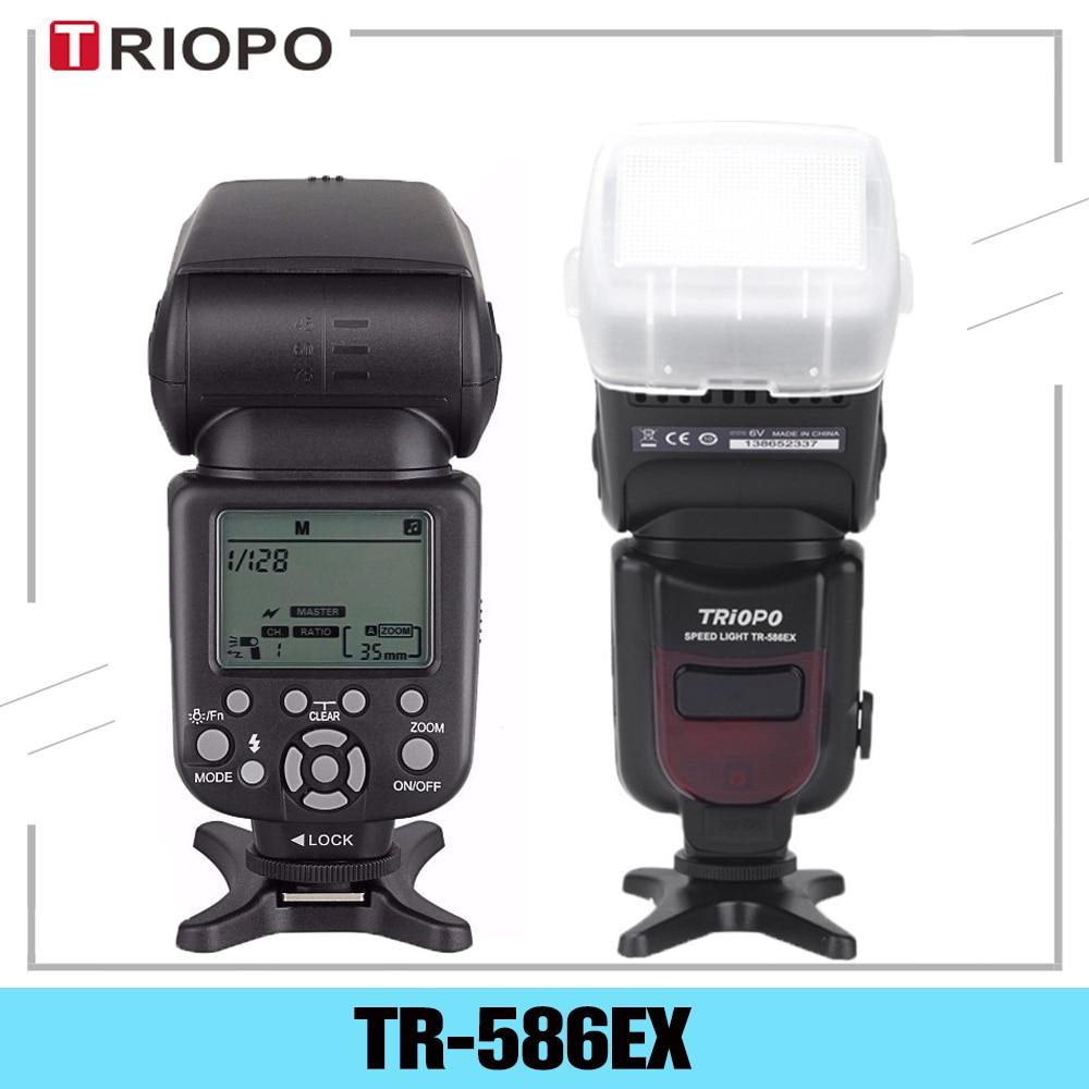 Triopo TR-586EX TTL اللاسلكية فلاش Speedlite صور لنيكون كانون EOS 450D 60D 80D كاميرا سرعة ضوء كما YONGNUO YN-568EX II