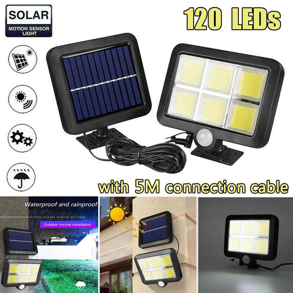 120 LED Solar Light Outdoor Solar Lamp PIR Motion Sensor Wall Light Waterproof Solar Powered Sunlight for Garden Decoration