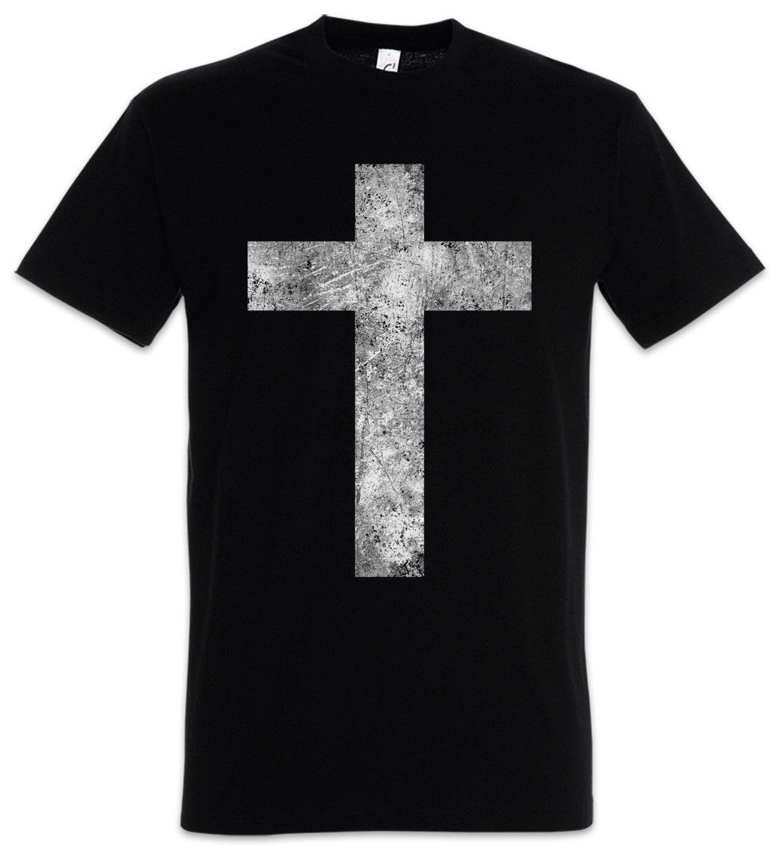 Cristiana Cruz II camiseta Dios Jesús Cristianismo Dios Gott Christus manga corta algodón camiseta Hombre Ropa
