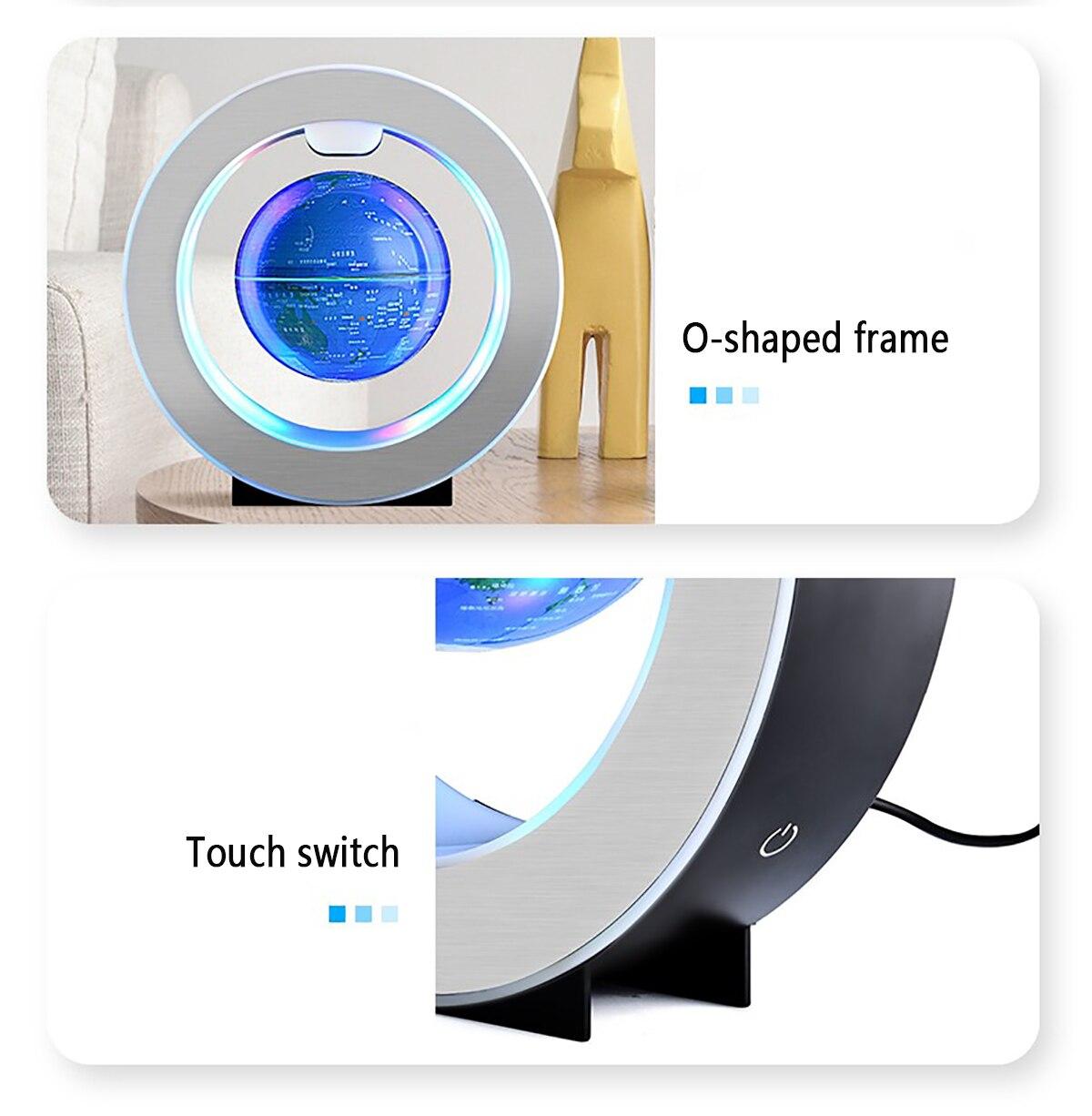 LED Globe Night Light World Map Magnetic Levitation Floating Multiple Colors Novel DecorationsBusiness Holiday Gifts enlarge