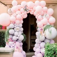 2 8g thickened matte green pink balloon 10inch small latex balloons baby shower birthday party wedding arch decoration supplies