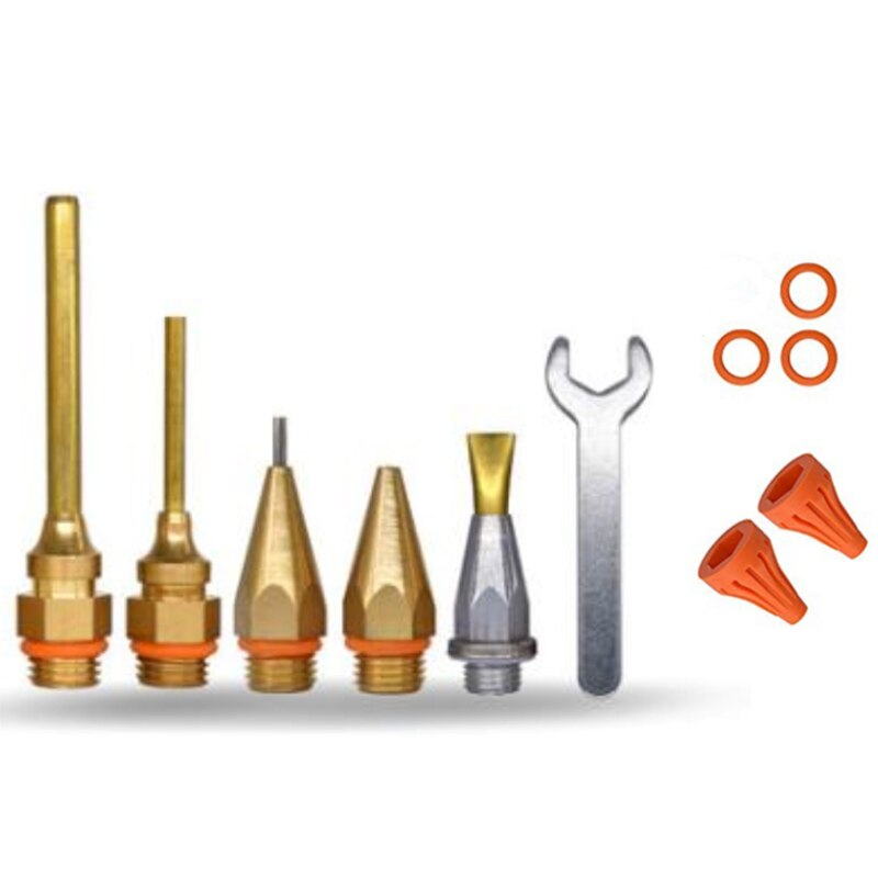 ¡TOP!-11 Uds boquilla de pegamento de cobre de diámetro pequeño de diámetro corto y grande accesorios de pegamento termofusible