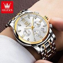 OLEVS Fashion Men Watches Luxury Brand Stainless Steel Man Watch Casual Business Men Quartz Wristwat
