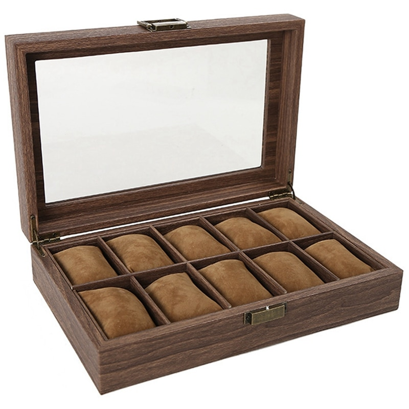 Multiple Watch Box Wooden Jewelry Storage Packaging Box Window Glass Display Box