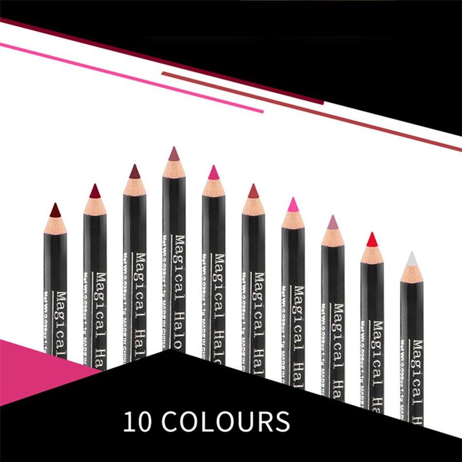 10 pçs fosco longa duração à prova dwaterproof água natural lábio vara lipliner lápis fosco nude lipsliner caneta conjunto beleza maquiagem ferramenta cosméticos